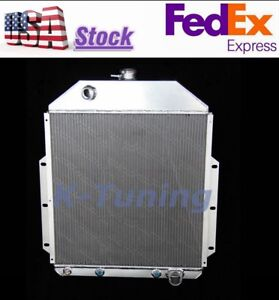 3 Row Aluminum Radiator Fit 1942 1952 Ford F Series Pickup Truck Chevy Engine