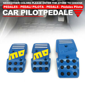 Blue Universal Manual Mt Racing Sport Truck Car Non slip Pedals Pad Cover Set