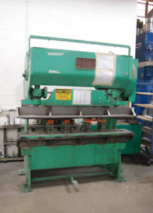 25 Ton X 6 Chicago D k 255 Mechanical Press Brake With Flanges For Punching