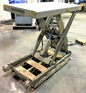 2 000 Lb X 48 X 24 Southworth Pls2 36 Electric Hydraulic Scissor Lift Table