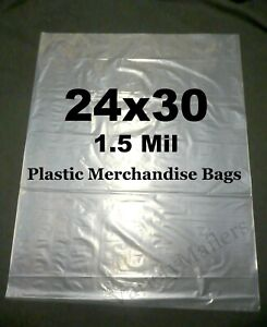 10 Extra Large 24 x 30 1 5 Mil Clear Flat Plastic Merchandise Storage Bags