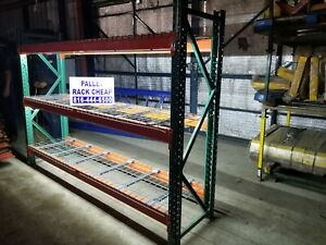 Used Teardrop Pallet Rack Shelving Racking Sections Scaffolding With Led Lights