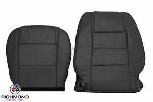2005 2009 Ford Mustang V6 Driver Side Complete Genuine Leather Seat Covers Black