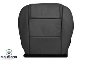 05 09 Ford Mustang Convertible V6 Driver Side Bottom Leather Seat Cover Black