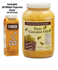 Yellow Pure Coconut Oil For Popping Popcorn White Popcorns Flavacol Cooking Oils