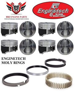 Ford Mercury 302 5 0 Enginetech Hypereutectic Pistons With Moly Rings 86 95