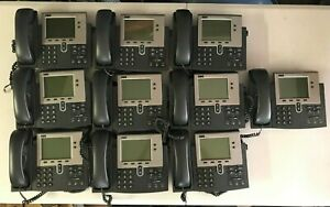 Lot Of 10 Cisco Systems 7940g Voip Business Ip Telephones Cp 7940g