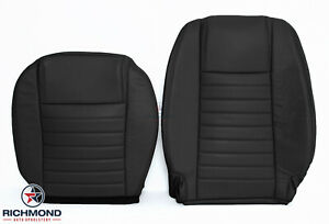 2008 Ford Mustang V8 Driver Side Bottom Lean Back Leather Seat Covers Black