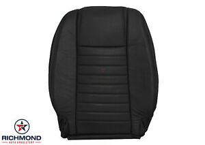 2006 2007 Ford Mustang Driver Side Leanback Replacement Leather Seat Cover Black