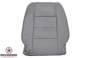 2006 2007 Ford Mustang V6 Driver Side Lean Back Genuine Leather Seat Cover Gray