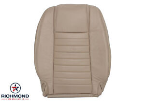 2006 2007 Ford Mustang V8 Driver Side Lean Back Genuine Leather Seat Cover Tan