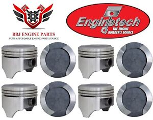 Ford Mercury 400 Modified V8 Enginetech Dish Top Pistons 8 1971 1982