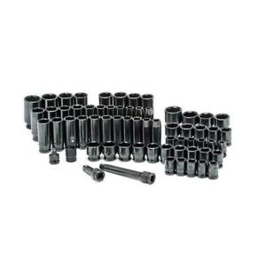 1 2 In Drive Sae metric Impact Socket Set 64 piece