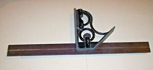 Union Tool Co 12 Combination Square Vintage Machinist Woodworking Tools