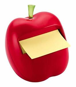 Post it Pop up Notes Dispenser For 3 In X 3 In Notes Apple Shaped Dispenser In