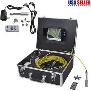 Pipe Inspection Camera Dvr Control Box Set Endoscope Video Sewer Drain Cleaner