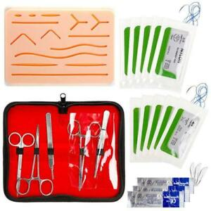 Complete Suture Practice Kit Medical Silicone Training Pad Suturing Human Skin