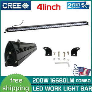 40 Inch 200w Single Row Led Light Bar Combo Truck Offroad Ford Bumper 4wd 240w
