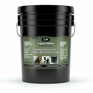 Liquid Rubber Foundation Sealant basement Coating Indoor Outdoor Use Easy To