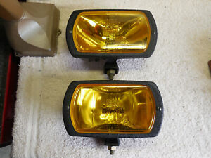 Cibie Type 95i Amber Driving Lamps pair Complete W bulbs Covers Genuine Nos