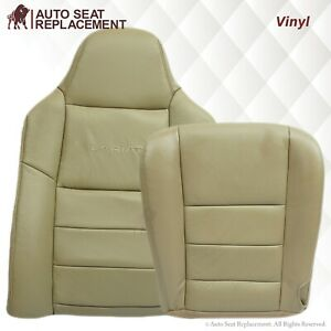 2003 2004 2005 2006 2007 Ford F250 F350 Lariat Synthetic Leather Seat Covers Tan
