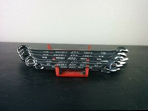 Ae113 Mac Tools 6 Piece Knuckle Saver Combination Wrench Set 12 Point Sae