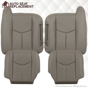 2003 To 2007 Chevy Tahoe Suburban Silverado Sierra Leather Seat Covers Gray