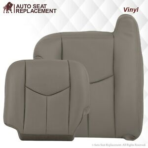 2003 07 Chevy Tahoe Suburban Silverado Sierra Synthetic Leather Seat Cover Gray