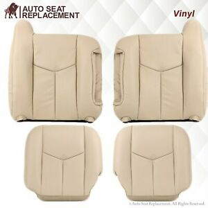 2003 2007 Chevy Tahoe Suburban Gmc Yukon Synthetic Leather Seat Covers In Tan