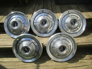 1966 66 Plymouth Belvedere Satellite Hubcaps Set Of 5