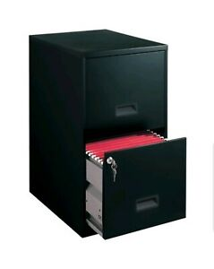 Space Solutions Filing Cabinet 2 Drawer Steel File Cabinet W Lock Black 16837