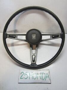 1975 1979 Honda Civic Cvcc Factory 3 Spoke Steering Wheel Oem Jdm Rare Vintage
