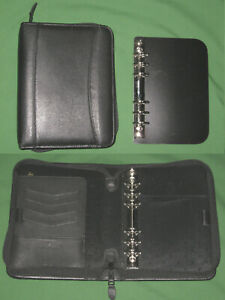 Compact 1 0 Removable Rings Black Leather Binder Franklin Covey Planner 210