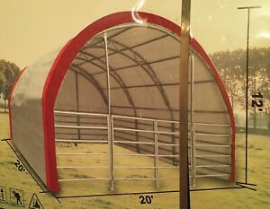 New Double Truss Portable Livestock Shed Shelter Farm Storage Horse Sheep Cattle