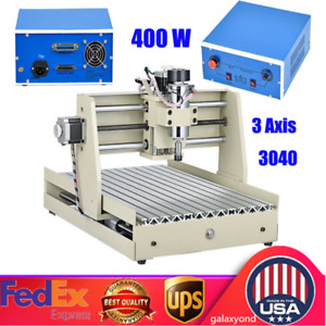 3 Axis Cnc3040 Router Engraver Engraving Milling Drilling Machine 400w Cutter Us