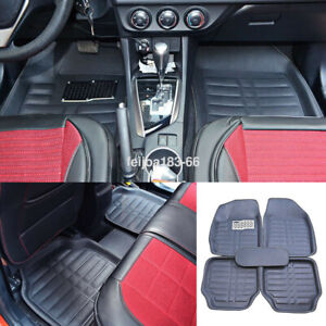 Universal Auto 5 Seats Car Floor Mats Front Rear Carpet All Weather Waterproof