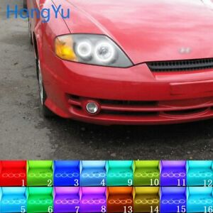 Multi Color Led Angel Eyes Halo Rings Kit For Hyundai Tiburon 03 06 Accessories