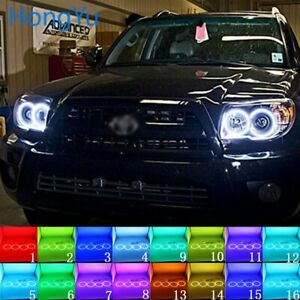 Multi color Led Angel Eyes Halo Rings Kit For Toyota 4runner 06 09 Accessories