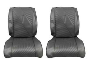1965 Gto Lemans Black Front Fold Down Bucket Seat Covers By Pui