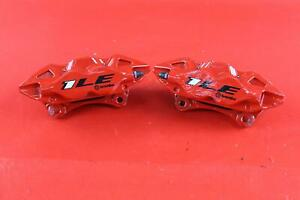 2018 18 Chevy Camaro Rear Left Right Pair Of Red Brembo 1le Calipers Oem