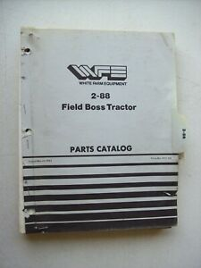Original White 2 88 Field Boss Tractor Parts Catalog Manual