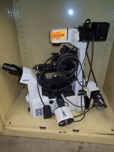 Nikon Te2000e Inverted Fluorescence Microscope With Camera More