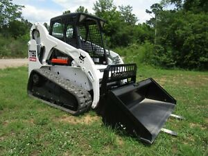 2012 Bobcat T190 Track Skid Steer With Bucket And Pallet Forks Ship 500