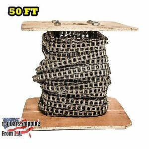 35ss Stainless Steel Roller Chain 100 Feet With 10 Connecting Links