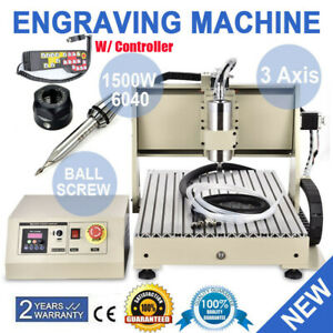 1 5kw Vfd 3 Axis Cnc 6040 Router Engraver Engraving Drilling Milling Machine rc