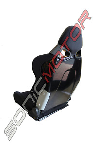 Snc Tuning Cg Reclinable Racing Bucket Large Seat Black Cloth Black Frp Shell