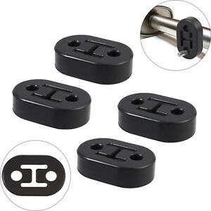4x 2holes 11mm Rubber Exhaust Tail Pipe Mount Bracket Hanger Insulator Universal
