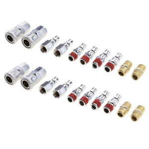 20 X Air Hose Fittings Quick Connect Couplers For Compressor Tools