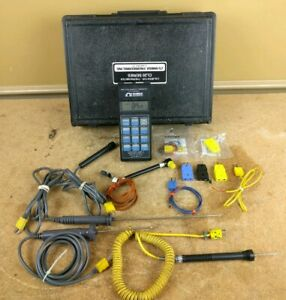 Omega Cl23a Calibrator Thermometer Type K j t Thermocouple With Probes