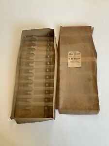 11vintage Pyrex Test Tubes Original Box 9820 Without Rim Corning Glass Works
